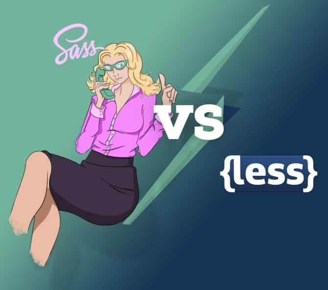 sass vs less by zing design
