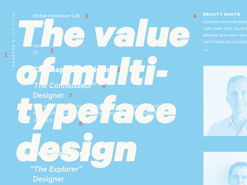 Multiple Typefaces in Website Design